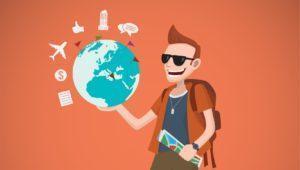 UserGeneratedContentImTourismus - Reisender mit Globus