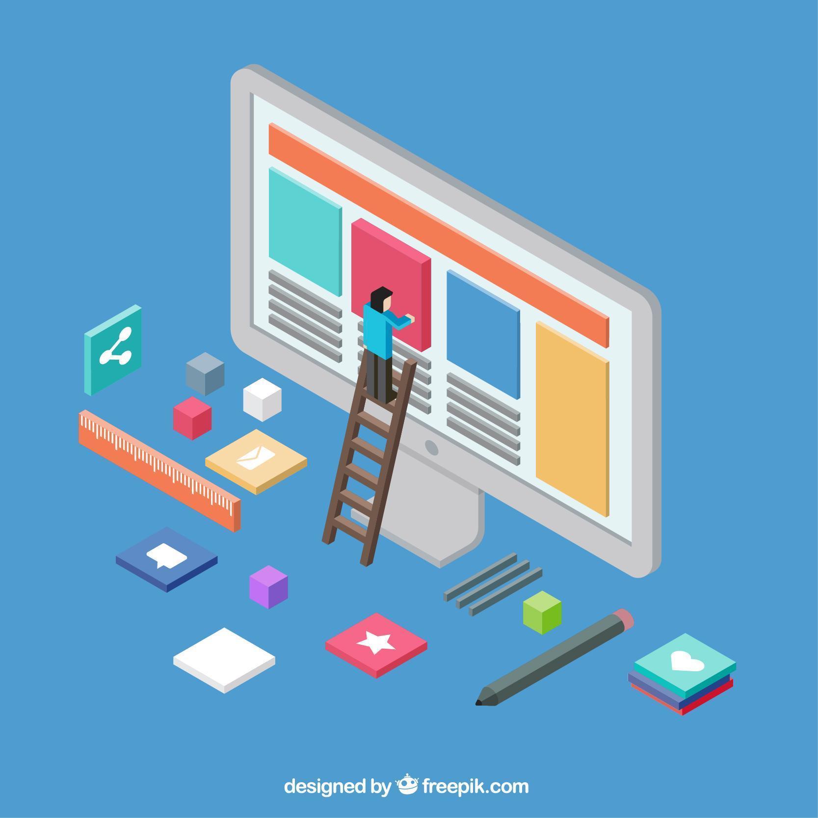 Content Marketing - Maennchen baut Webseiteninhalt
