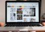 Foto zeigt Laptop mit Offener Pinterestseite
